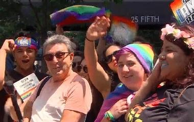 LGBTQ community celebrates in pride parade