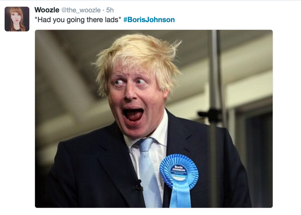 Social media erupts over Boris Johnson