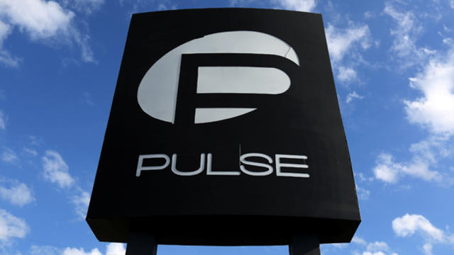 ​The Pulse nightclub sign is pictured following the mass shooting in Orlando, Florida, on June 21, 2016.