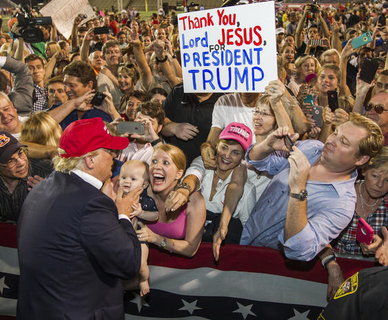 "Thank you, Jesus"" - Extreme Donald Trump fans - CBS News"