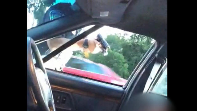 ​Officer Jeronimo Yanez of the St. Anthony Police Department in Minnesota points his weapon after fatally shooting Philando Castile July 6, 2016, in this screen capture from video posted by Castile's girlfriend, Diamond Reynolds.