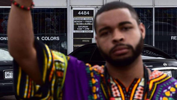 Micah Xavier Johnson is seen in a photo obtained by CBS News.​