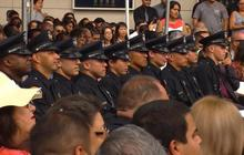 New Los Angeles officers join force at difficult time for police