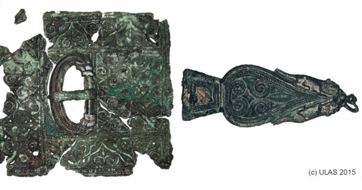 ancient roman grave  artifacts unearthed in england