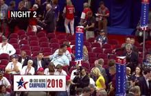 Low attendance at the Republican National Convention