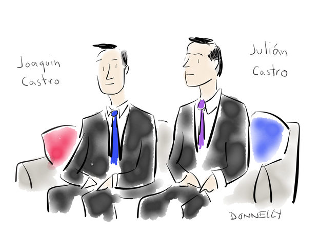 "Political cartoonist captures ""CBS This Morning"" at Democratic convention"