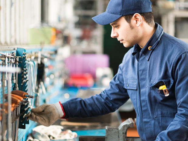 Worker searching for the right tool