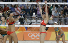 U.S. beach volleyball, women's soccer excel in Rio