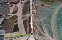 First person perspective down world's largest water slide