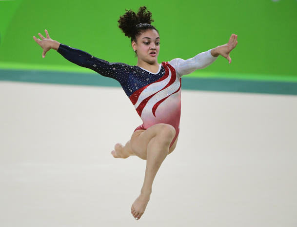U.S. women gymnasts go for gold