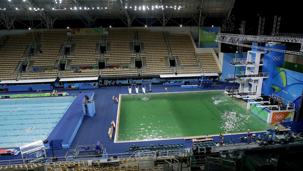 Diving Pool At Rio Olympics Mysteriously Turns Green
