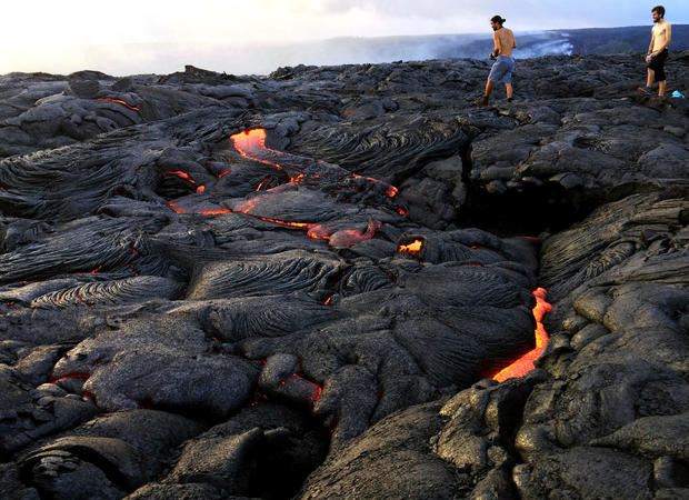 Hawaii's fire-spitting lava spectacle