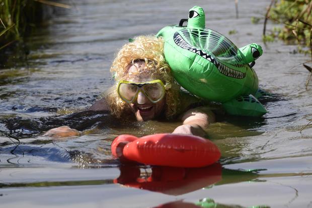 Muddy snorkeling championship
