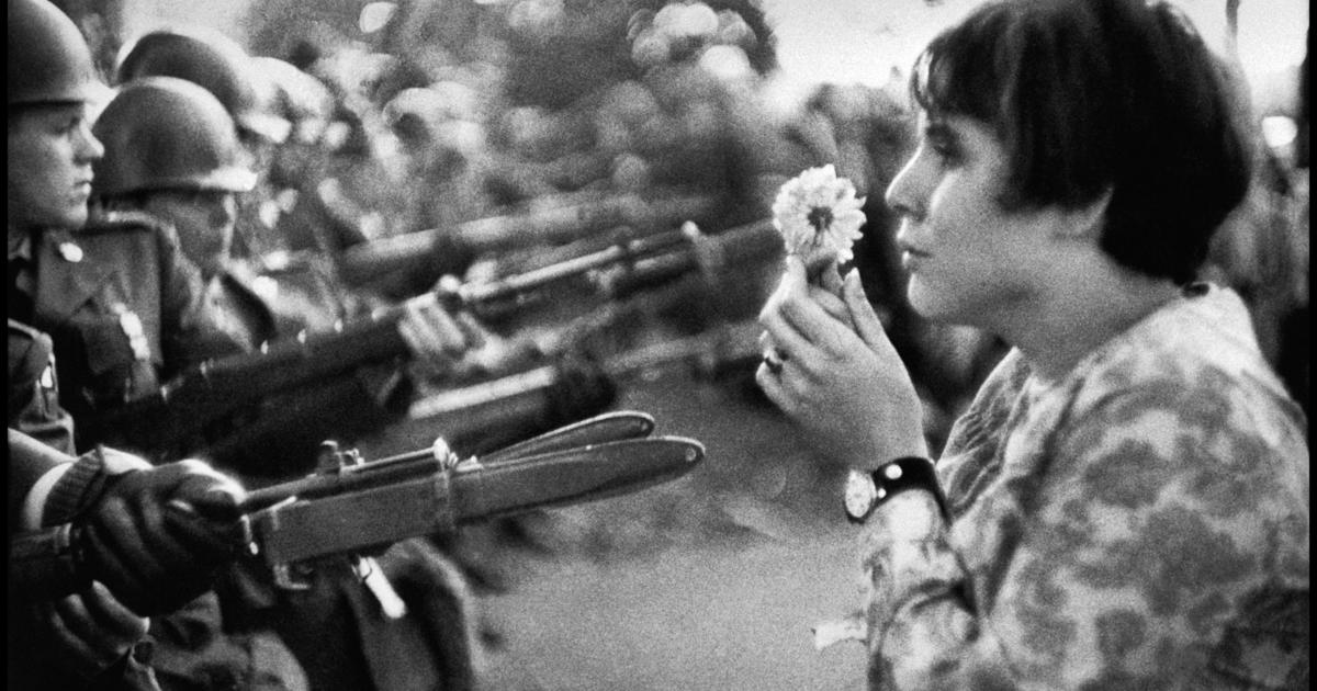 Anti Vietnam Protest Flower Child The Famous Images Of