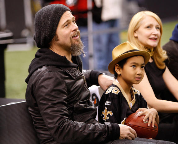 New Orleans Saints: Brad Pitt - Celebrity fans of every ...
