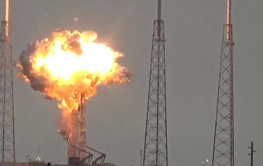 SpaceX rocket explodes on launch pad