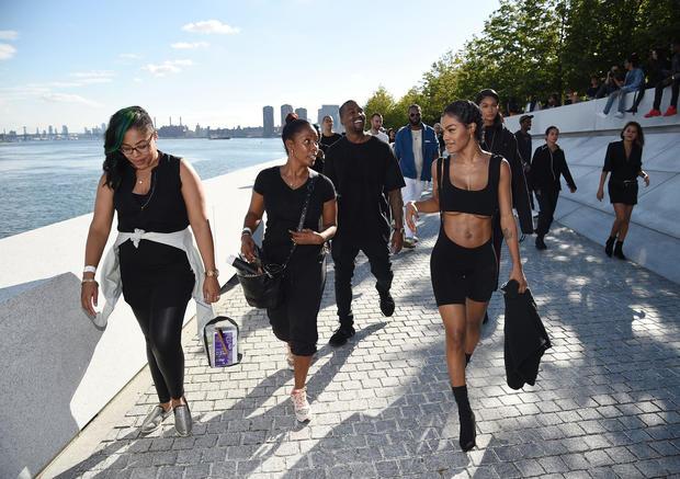 3a4cbcf6c3eb1 Staff - Kanye West s Yeezy Season 4 fashion show - Pictures - CBS News