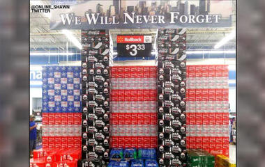 Walmart store's 9/11 display sparks outrage