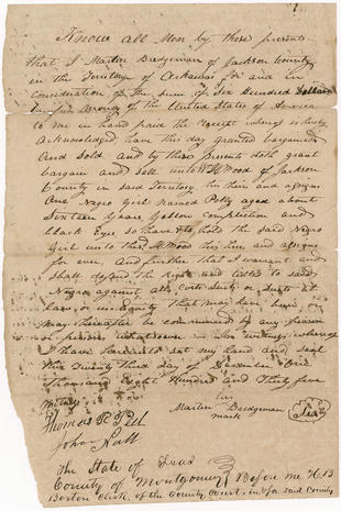 Salve Bill Of Sale National Museum Of African American History And