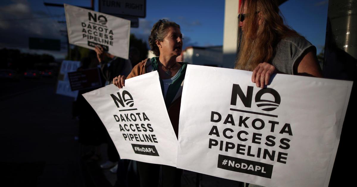 Trump Dakota Access Pipeline Stock Raises Concerns Cbs News