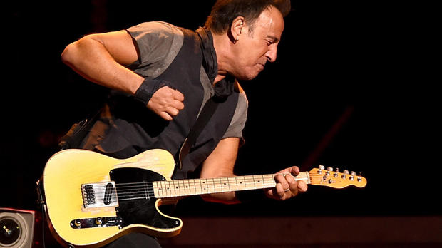 Bruce Springsteen and the E Street Band perform at the Los Angeles Sports Arena on March 15, 2016, in Los Angeles, California.