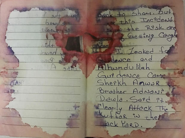 Blood-stained journal of Ahmad Khan Rahimi