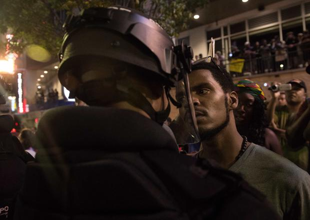 Charlotte police shooting protests