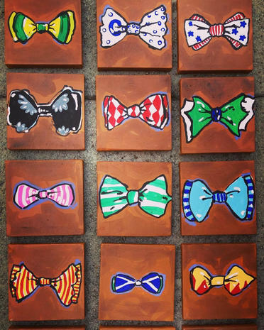 Bow tie artwork by Charles Osgood fans