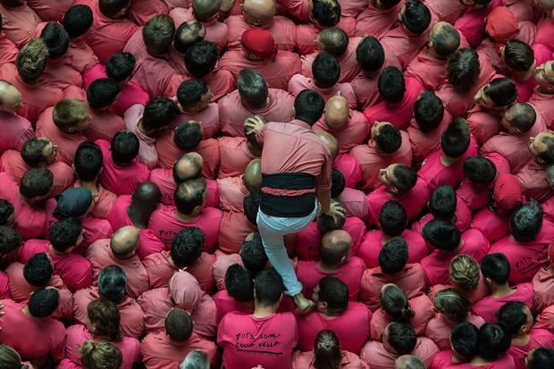 Spain's human castle competition