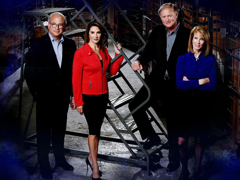 """48 Hours"" correspondents, from left, Richard Schlesinger, Maureen Maher, Peter Van Sant and Erin Moriarty"