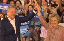 Al Gore and Hillary Clinton address climate change in Miami, Florida