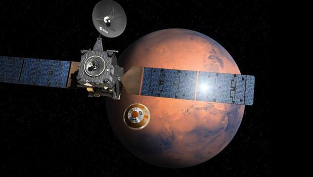 Photo captures crash site of European Mars lander - CBS News