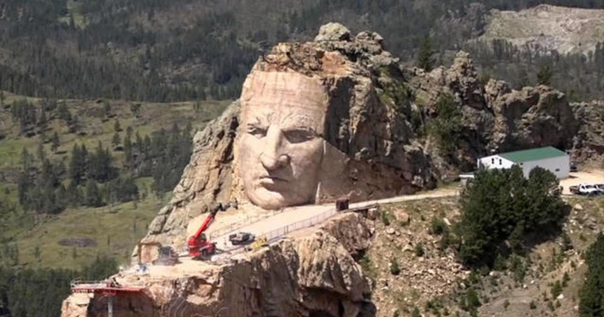 One Family S Quest To Carve The Crazy Horse Memorial Is In Its 70th Year And Still Going Cbs News