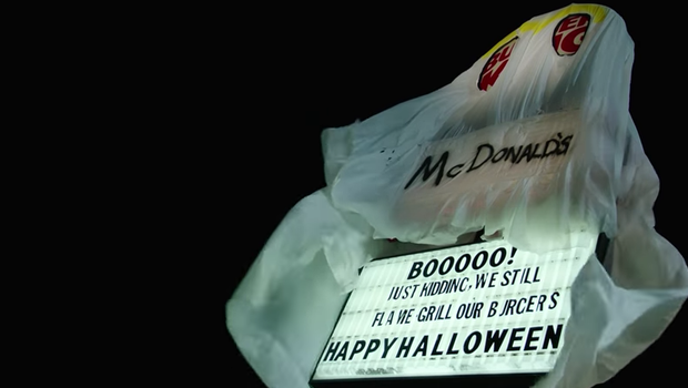 For Halloween, this Burger King dressed up as the ghost of ...