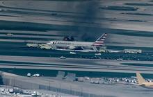 American Airlines jet evacuated in Chicago after fire