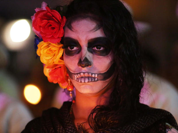 mexico city day of the dead 2016 pictures cbs news