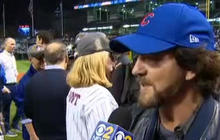 Cubs fan Eddie Vedder reacts to World Series win