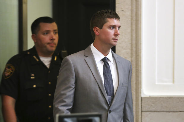 Ray Tensing re-enters Hamilton County Common Pleas Judge Megan Shanahan's courtroom after a short break in the jury selection process for his murder trial in Cincinnati Oct. 25, 2016.
