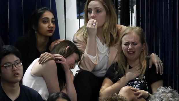 Clinton supporters react