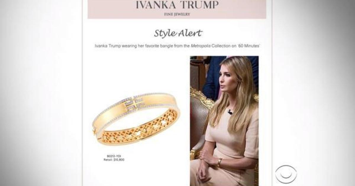 Ivanka Trump takes fire for hawking 10800 bracelet worn on 60