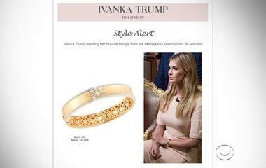 Ivanka Trump zinged over marketing of bracelet worn on 60 Minutes