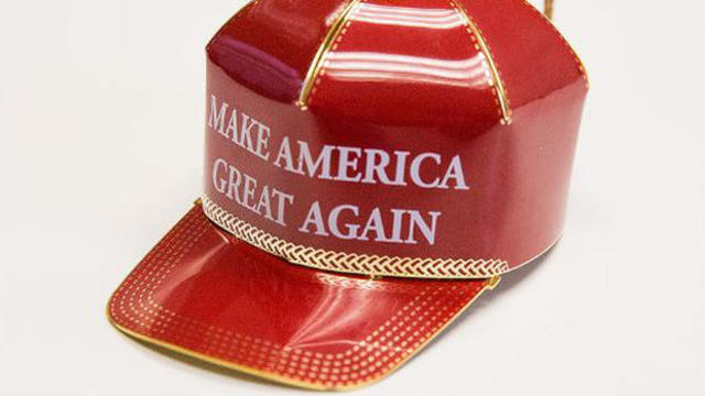 The Red Cap Collectible Ornament for sale on the Donald Trump campaign online store.