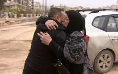 Family torn apart by Syria's civil war reunites