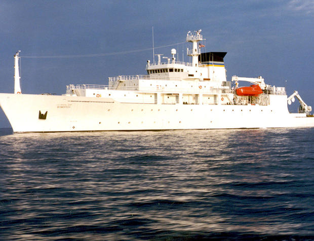 The oceanographic survey ship USNS Bowditch is seen Sept. 20, 2002.