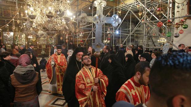 Christmas celebrated in Bethlehem