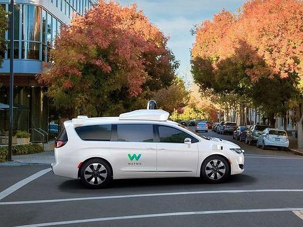 Fiat Chrysler-Waymo van