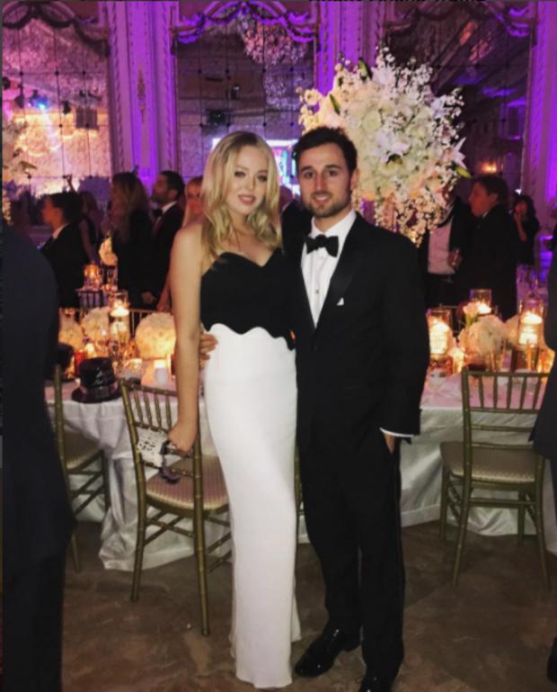 Tiffany Trump and boyfriend Ross Mechanic in 2016.