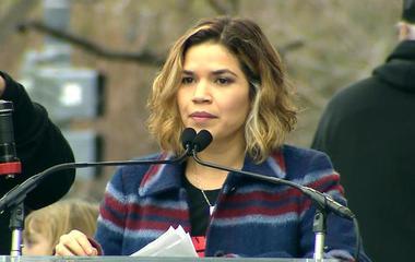 America Ferrera speaks at Women's March on Washington