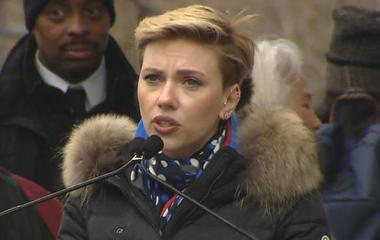 WATCH: Scarlett Johansson speaks at Women's March on Washington