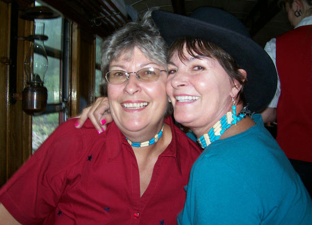 Sisters Pam and Kay